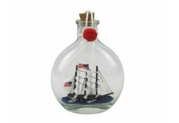 """USS Constitution Model Ship in a Glass Bottle 4"""""""