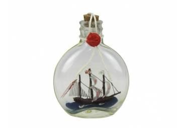 "Santa Maria Model Ship in a Glass Bottle 4"""
