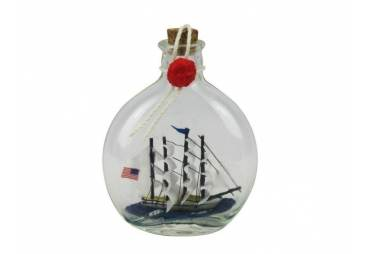 """Flying Cloud Model Ship in a Glass Bottle 4"""""""