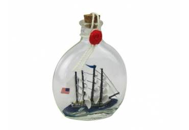 """Bluenose Sailboat in a Glass Bottle 4"""""""