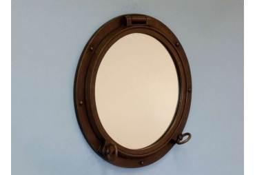 """Bronzed Porthole Mirror 24"""""""