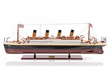RMS Titanic Wooden Cruise Ship Model Famous Ocean Liner Replica