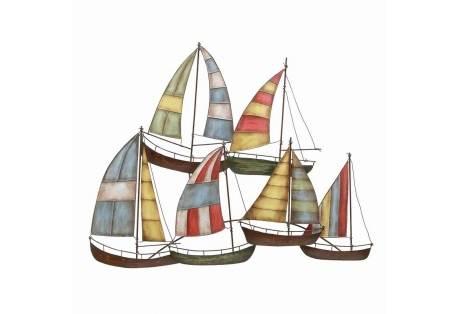 Metal Sailboats Nautical Wall Art Decor