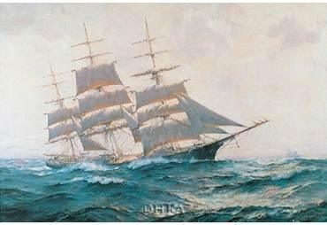 Toward Far Horizons, Ship Triumphant Sailing Ship Art Poster