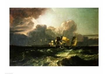 Nautical Wall Decor Ships Bearing up for Anchorage