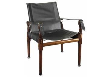 Black Classic Campaign Chair