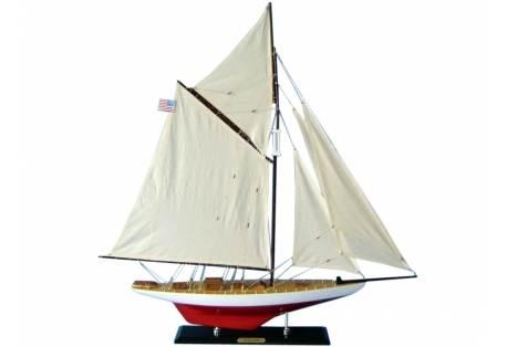 America's Cup Vigilant Wooden Sailboat Model
