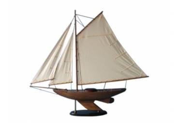 """Rustic Wooden Bermuda Sloop Sailboat Model 40"""""""