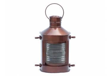 """Antique Copper Masthead Oil Lamp 12"""""""