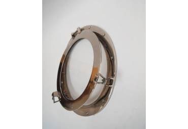 """Aluminum Ship's Porthole Window Chromed 17"""""""