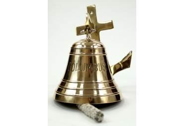 """Brass """"Columbus"""" Anchor Bell"""