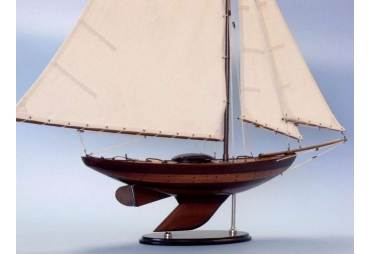 Newport Sloop Decorative Wooden Sailboat Model