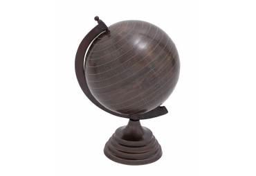 Desk Top Copper Finish Metal Globe