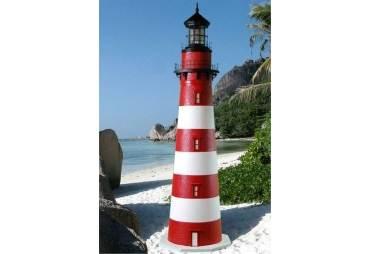 Assateague Stucco Electric Lawn Lighthouse 5'
