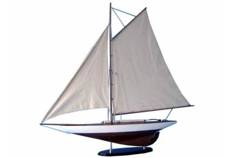 """America's Cup Wooden Sailboat Model Contender 26"""""""