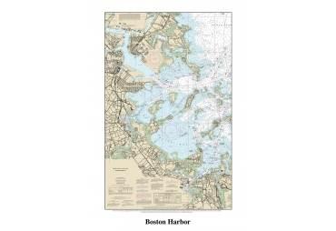 Boston Harbor Decorative Nautical Chart