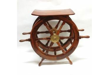 """Wooden Hand Crafted Ship Wheel Table 30"""""""