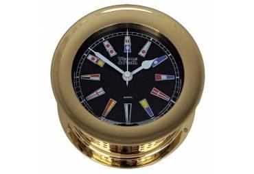 Atlantis Quartz Clock Black Dial with Color Flags