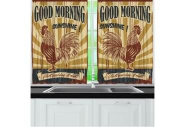 Good Morning Sunshine Kitchen Curtain