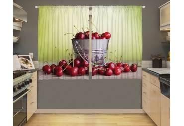Cherries Kitchen Curtain Panel Window Decor