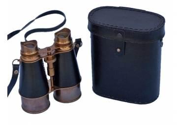 """Admirals Antique Brass Binoculars in Leather Case 6"""""""
