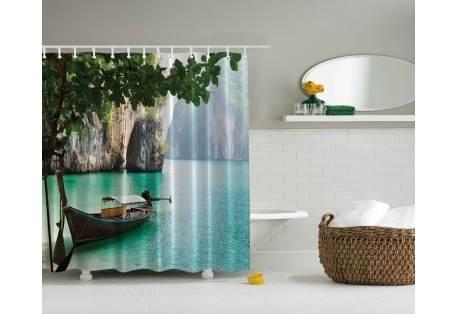 Curtains Ideas beach shower curtain : Island Beach Shower Curtain