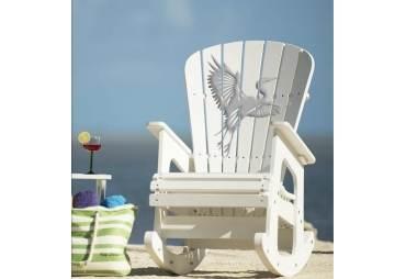 White Heron Rocking Chair