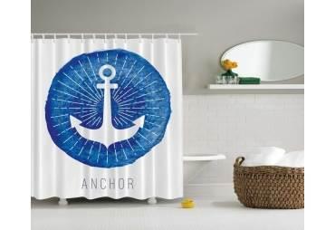 Anchor Sand Dollar Shower Curtain