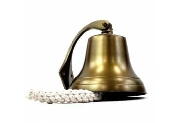 Aluminum Bell Brass Finish Antique