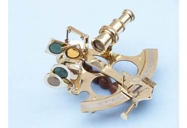 "Captain's Brass Sextant 9"""