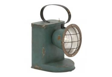 Antiqued Metal LED Spot Lantern