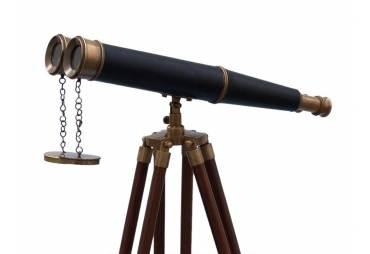 """Admirals Antique Brass Binoculars with Leather 62"""""""