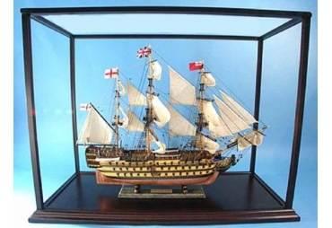 Wooden Display Case for Model Ship