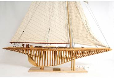 1930's Shamrock V America's Cup J Class Sailboat Model Large Open Hull