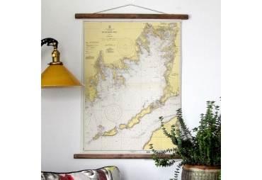 Buzzards Bay, Mass Vintage Chart c. 1939