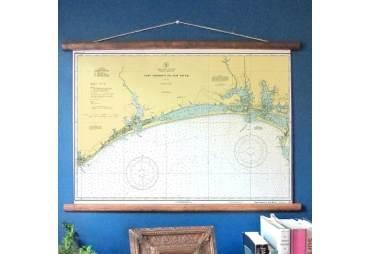 Vintage Nautical Chart Beaufort, North Carolina & Bogue Banks, c. 1934