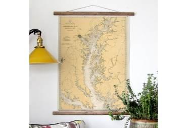 Annapolis & the Northern Chesapeake Vintage Nautical Chart
