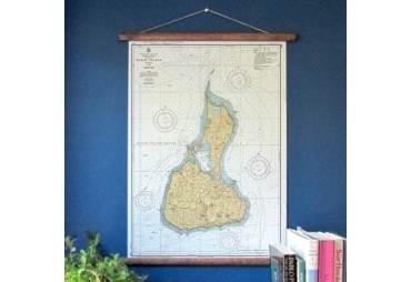 Block Island Vintage Nautical Chart, c. 1952