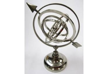 Armillary Globe Decoration Nickel Plated
