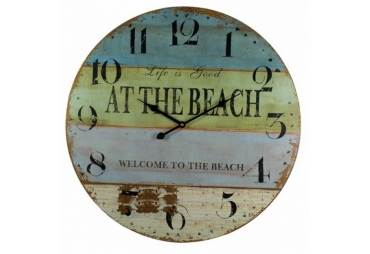 """At The Beach Wooden Wall Clock 23"""""""