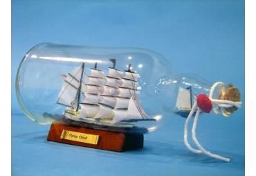 """Blue Flying Cloud Ship in a Bottle 11"""""""