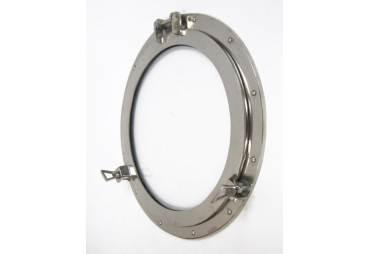 """Aluminum Chrome Finish 17"""" Ships Porthole Mirror"""