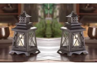Candle Lantern Wedding Centerpiece Table Decor Set of 2