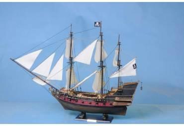 "Captain Kidd's Black Falcon 36"" - White Sails"